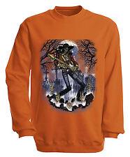 (10243-1 orange) Sweatshirt Sweater S M L XL XXL 3XL 4XL Shirts - GHOST GUITAR
