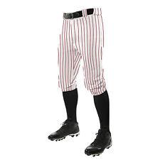 NEW! Champro Adult Triple Crown Knicker Pinstripe Baseball Softball Pants BPPINK