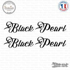 2 Stickers Black Pearl Decal Aufkleber Pegatinas D-376 Couleurs au choix