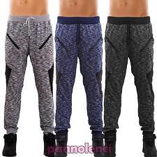 pantalones de hombre deporte fitness chándal melange ecopiel cremallera X-16