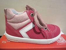 Superfit Lauflern Stiefel Schnürschuh pink Leder Neu !!!