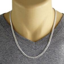 Men's 925 Sterling Silver Cuban Curb Link Chain Necklace - 120 Gauge 5 mm