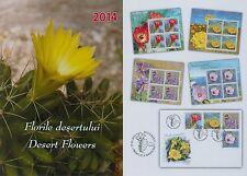 Rumänien 2014 Blütenpflanzen der Halbwüste Mi.6777-80,KB-Satz,Block 578,FDC