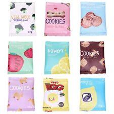 Snacks Print Fashion Money Bag Coin Wallet PU Zipper Pouch Key Card Holder