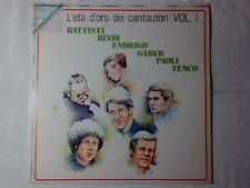 LP L'ETA' D'ORO DEI CANTAUTORI VOL. 1 LP LUCIO BATTISTI UMBERTO BINDI GINO PAOLI