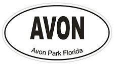 Avon Park Florida Oval Bumper Sticker or Helmet Sticker D1289 Euro Oval