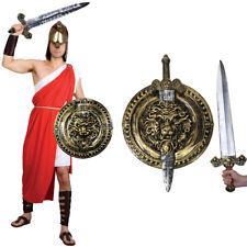 MENS SPARTAN WARRIOR COSTUME GREEK ROMAN SOLDIER FANCY DRESS GLADIATOR OUTFIT