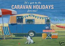 Placa De Metal Retro: se debe Caravana Vacaciones para mí signo/ad