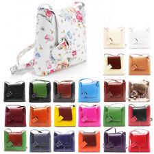 Womens Vera Pelle Leather Crossbody Messenger Shoulder Bag Handbag Made in Italy