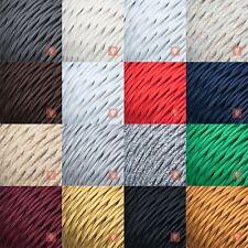 Textilkabel für Lampe Stoffkabel Elektro-kabel 3-adrig verseilt geflochten