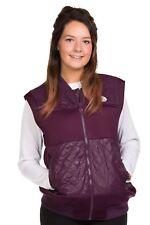 Ladies Bomber gilet Lining Sleeveless Body warmer Casual Zipper S to 2XL
