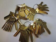 Key Blanks for Locksmith / 50 Schlage SC1  / Brass / Made by Ilco