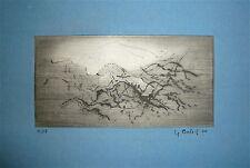 BALLIF Yannick gravure originale signée numérotée 1976 art abstrait abstraction