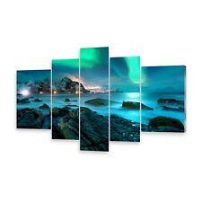Mehrteilige Bilder Glasbilder Wandbild Nordlicht