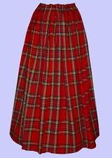 Ladies Victorian skirt Royal Stewart tartan costume fancy dress Hogmanay