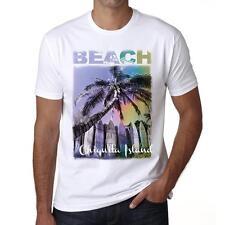 Chiquita Island Beach Palm Tshirt, Hommes Tshirt Blanc, Cadeau