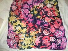Halstuch Tuch ca. 87 x 87 cm  ganz flauschig bunt Blumen  neuwertig NEU