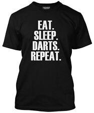 EAT Sleep Dart ripetere T SHIRT-Freccette Giocatore REGALO TUTTI I COLORI TEE T-SHIRT DA UOMO