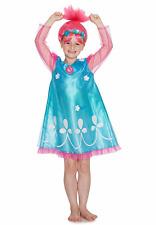 Chicas Trolls amapola Fancy Dress Costume & Peluca Niños 3-8 años