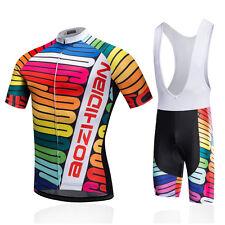 Cycling Jersey and Bib Shorts Kit Men's Bicycle Short Sleeve Clothing Set S-5XL