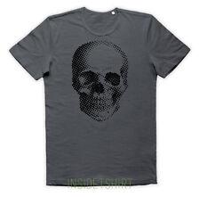 MAGLIETTA TESCHIO DIGITALE maglia optical illusion Dead Head Skull T-SHIRT MAN