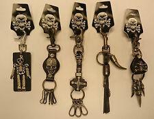 Key rings/ Leather/ Skulls/ Skeleton/ Dragon claw/ Gothic/ Biker/ 5 types - 532