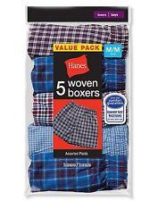 10 Hanes Boys Red Label Tartan Boxers B841W5