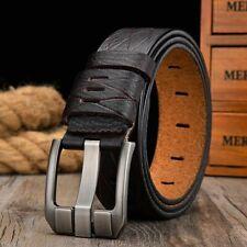 Men Belt Genuine Cowskin Lather Fashionable Strap Luxury Pin Metal Solid Buckle