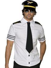 ADULT MENS FEVER MILE HIGH COSTUME SMIFFYS PILOT MENS FANCY DRESS - 2 SIZES