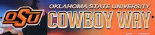 Plastic Street Sign Oklahoma State College University Cowboys Way Dorm Decor