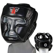 FOX-FIGHT MMA Kopfschutz Echtes Leder Boxen Muay Thai Kikboxen Kopfschoner