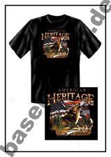 T-Shirt #107 AMERICAN HERITAGE-WOLF Biker- Rocker- Motorradfahrer USA Custombike