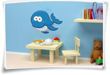 Wandtatto Wandaufkleber Kinder Aufkleber Kindername Sticker Baby Wal Kind Style