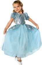 Beautiful Cinderella Palace Princess Aqua Ball Gown Polyester Costume, Rubies