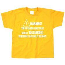 Billard Kinder T-Shirt Pool Snooker Queue Sport Hobby Coole Geschenke