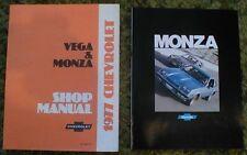 1977 Chevrolet Monza Brochure & Monza/Vega Shop Manual 2 pcs 77