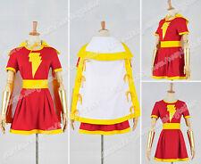 NEW Captain Marvel Costume Mary Marvel Heroine Cosplay Dress Halloween NN.36
