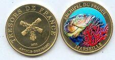 ILES du FRIOUL Médaille colorisée 2011 ARTHUS BERTRAND