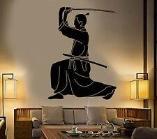 Vinyl Wall Decal Samurai Japanese Sword Katana Warrior Stickers (1259ig)