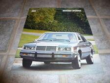 1984 Mercury Marquis Sales Brochure - Vintage