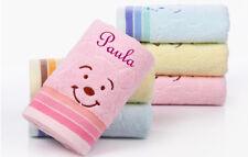 Kinder Handtuch Teddy mit Namen bestickt Taufe Bär Geburt Kindergarten Geschenk