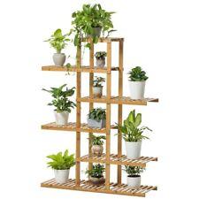 Premium Bamboo Wooden Plant Stand Indoor Outdoor Garden Planter Flower Pot Shelf