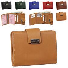 Luxus Leder Damen Geldbörse Portemonnaie Geldbeutel mit Druckknopf Branco 12050