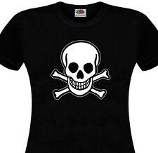 T-shirt femme Tête de mort Toxique Punk Rocker Rock'n'Roll Biker Gothique Crâne