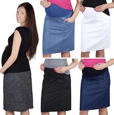 Maternity Casual everyday sporty Denim Skirt Over Bump  8 10 12 14 16 18
