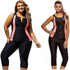 Contrast orange accent black zipped women wetsuit summer womens swimwear sexy