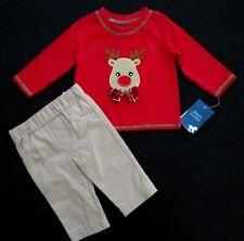 Matt's Scooter Infant Baby Boy 2-Piece Lng Sleeve Christmas Reindeer Holiday Set