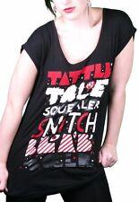 Iron Fist Women's Black Squealer Tattle Tale Snitch Blab Talk Boyfriend T-Shirt