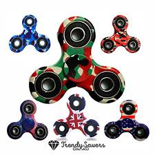 Kids Tri-Spinner Fidget Ceramic EDC Hand Finger Spinners Desk Focus Stress Toy