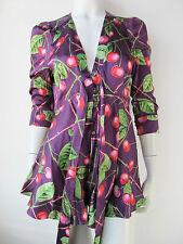 John Galliano Kleid Top Tunika Shirt Luxus Seide 7615S514 Neu UVP489€
